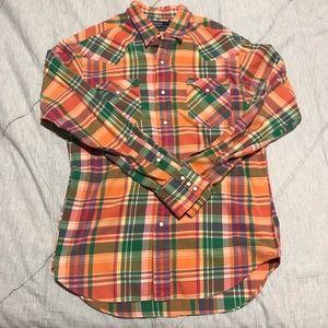 Orange classic western shirt- Ralph Lauren
